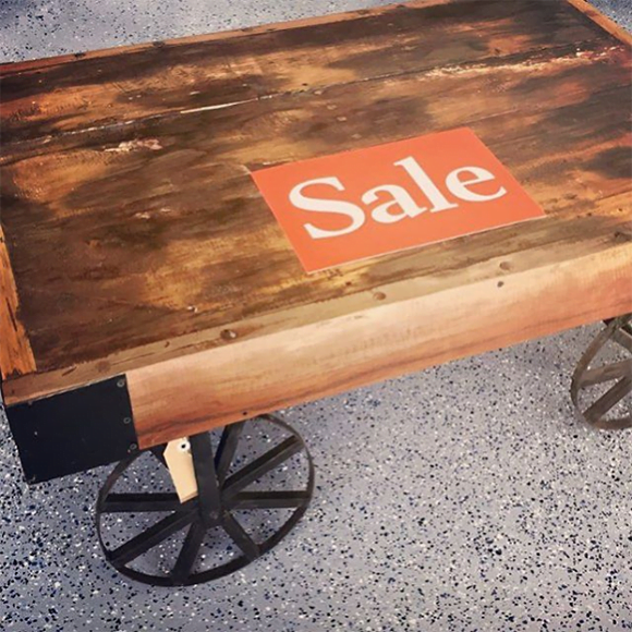 Industrial Style Coffee Table On Wheels Part 93