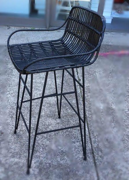 Loft Rattan Bar Stool Black Loft Furniture