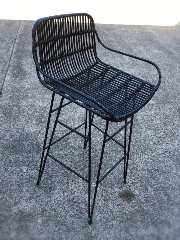 loft rattan bar stool