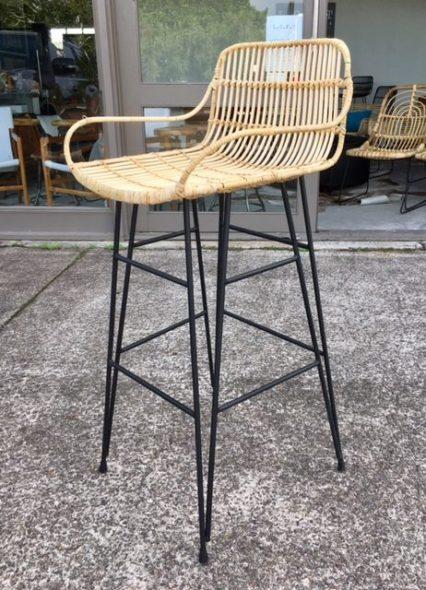 rattan natural bar stool stools counter height amazon backless