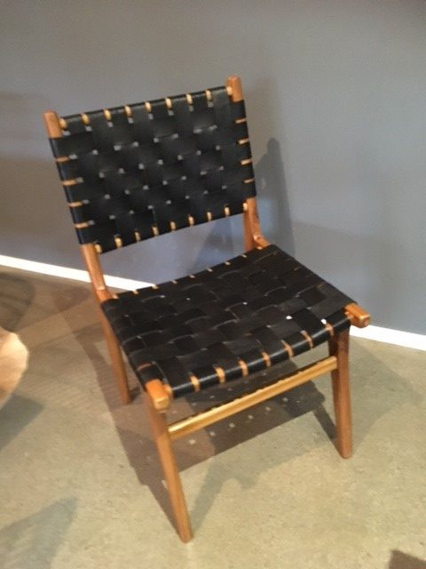 Loft Woven Leather Dining Chair Black Loft Furniture