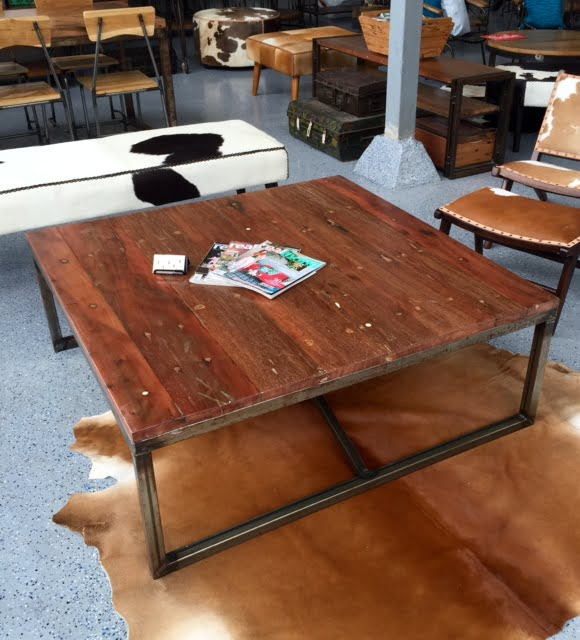 Square Industrial Coffee Table By Hrdla Design For Sale At: Square Coffee Table