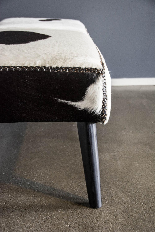 Cowhide Bench Seat Ottoman Loft Furniture