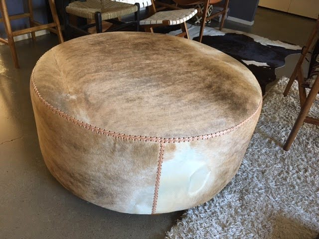 Interesting Cowhide Ottoman For Sale Pictures Best
