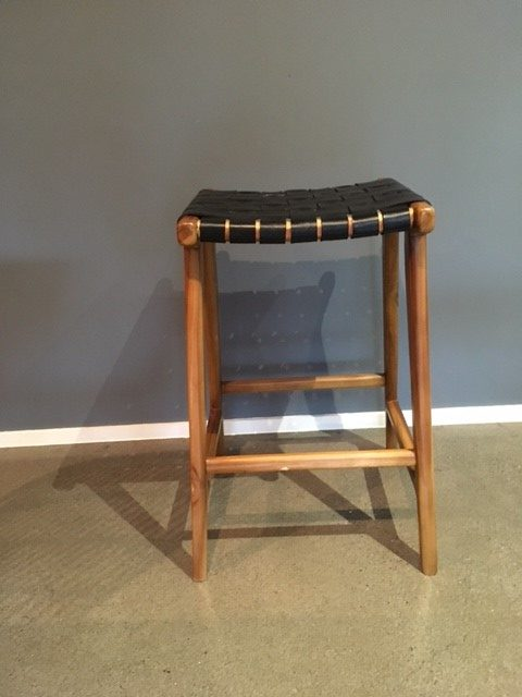 Loft Woven Leather Bar Stool Black Loft Furniture