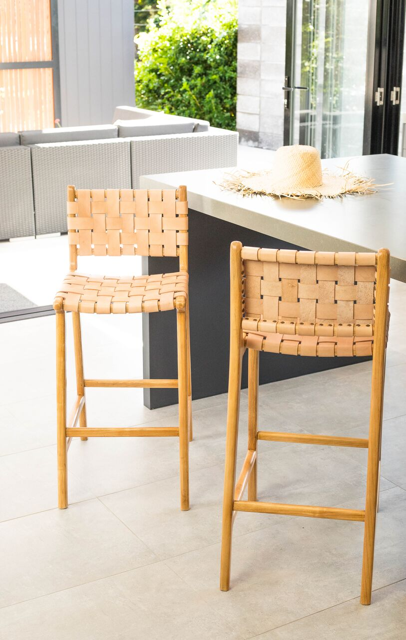 Super Woven Leather Bar Stools Gmtry Best Dining Table And Chair Ideas Images Gmtryco