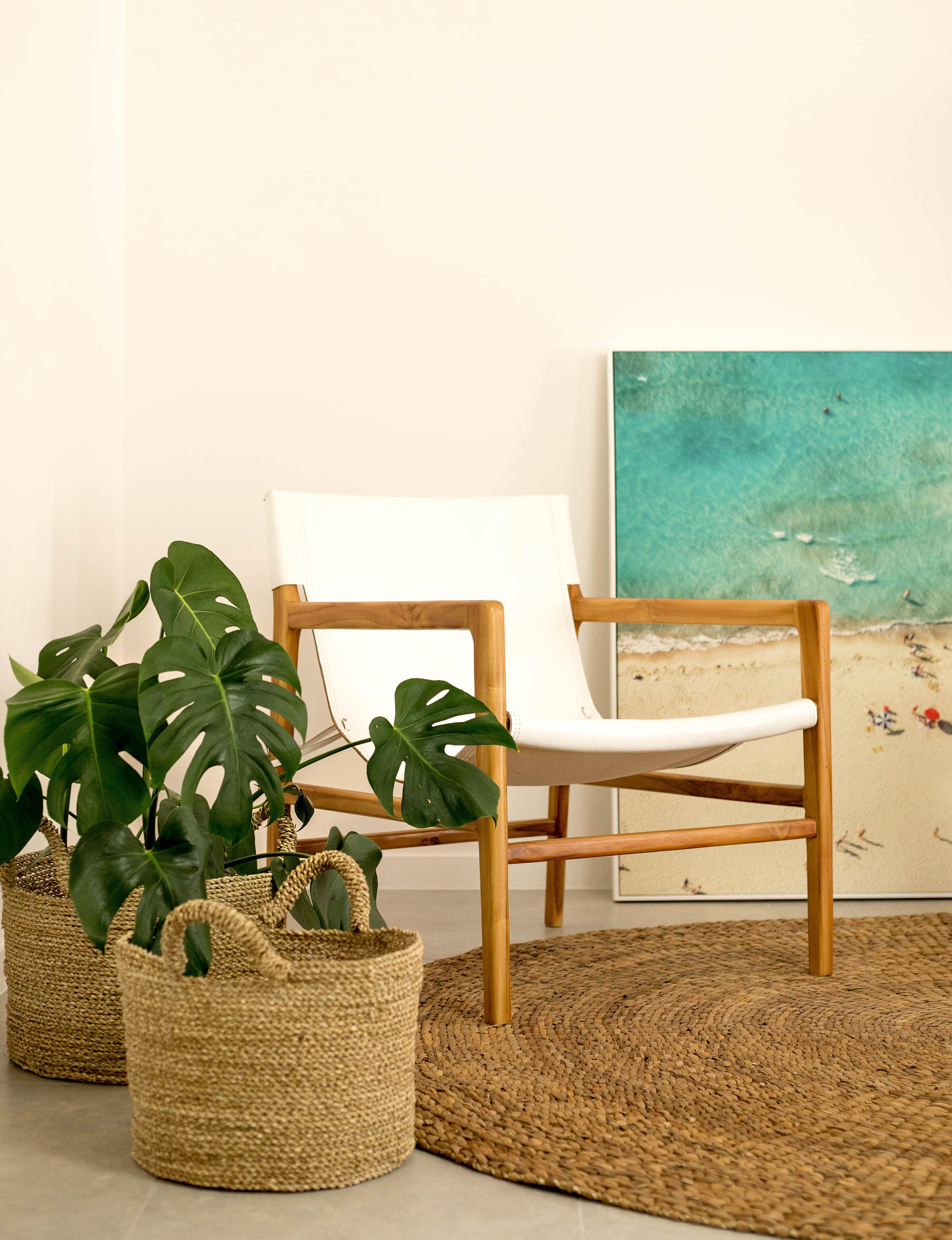 Loft White Leather Sling Chair Loft Furniture