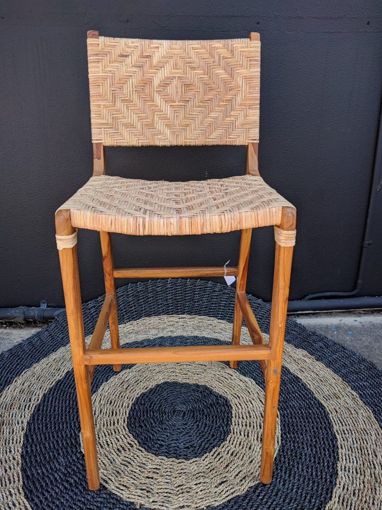 Loft Split Woven Rattan Bar Stool Loft Furniture