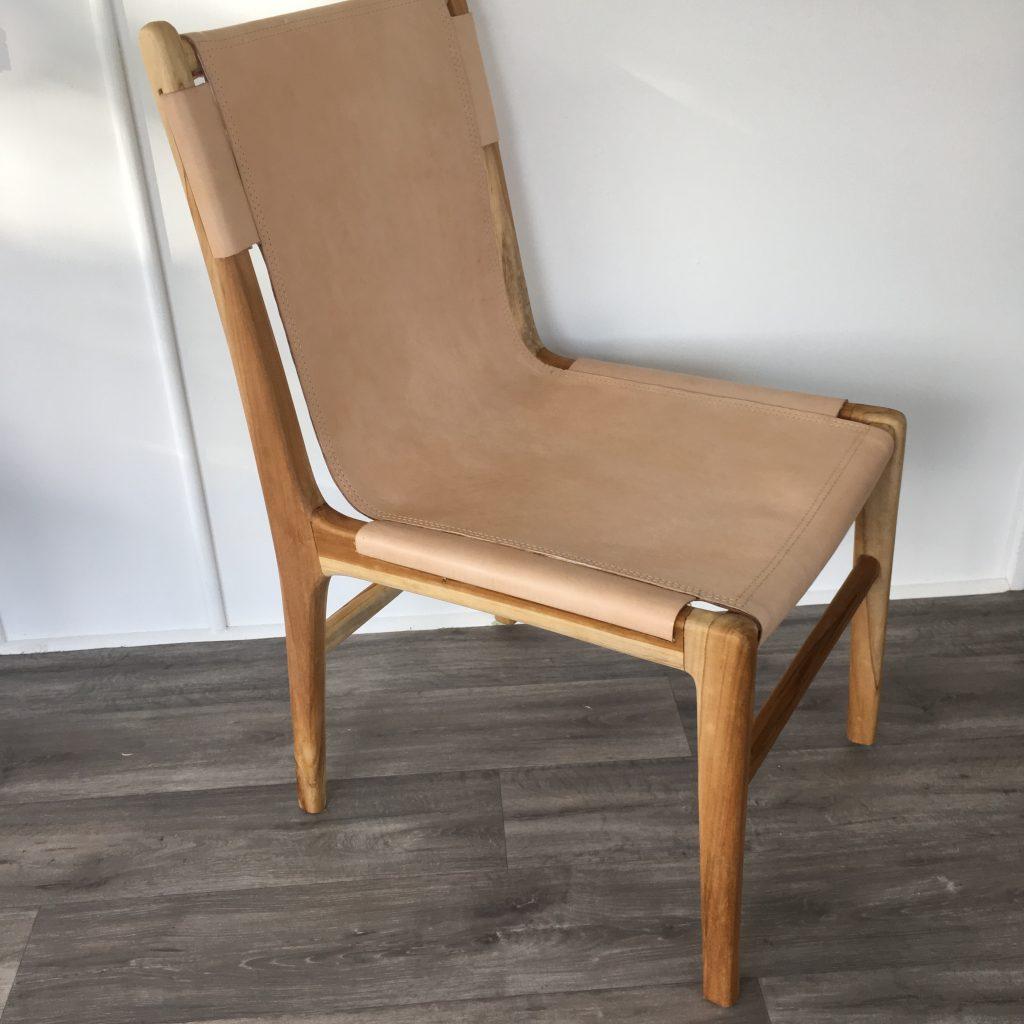 Loft Leather Sling Dining Chair Blush Loft Furniture